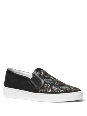 Buy Leo Sport Suede Slip-On Sneakers by MICHAEL MICHAEL KORS online