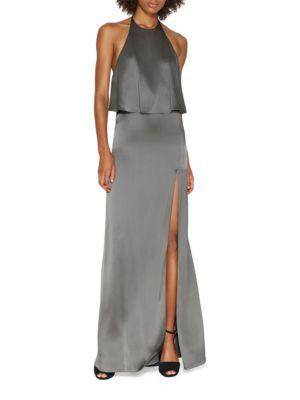 Halter Slip Gown by Halston Heritage