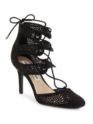 Joslyn Lasercut Lace-Up Heels by Karl Lagerfeld Paris
