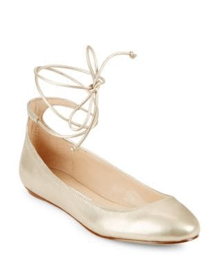 Larose Suede Lace-Up Flats by Karl Lagerfeld Paris