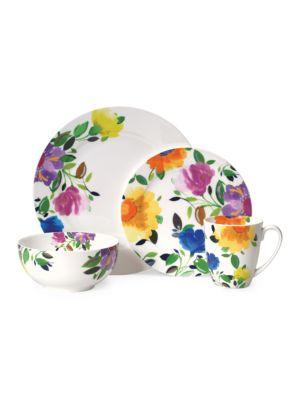 Kim Parker Provence Garden Dinnerware- Set of 16