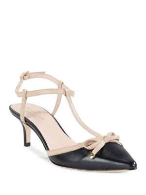 Pomona Leather T-Strap Pumps by Kate Spade New York