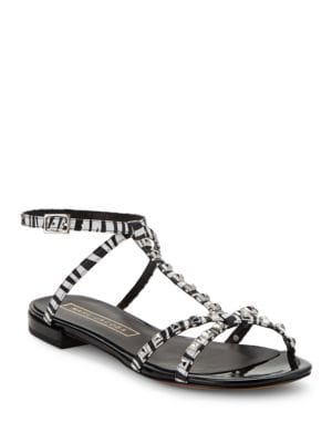 Ana Leather Studded Sandals by Marc Jacobs