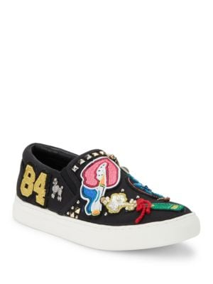 Mercer Embroidered Slip-On Sneakers by Marc Jacobs