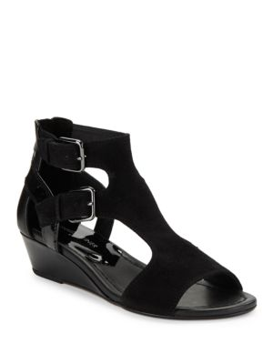 Eden Suede Wedges by Donald J Pliner