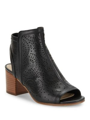 Jorie Lasercut Leather Ankle Boots by Via Spiga