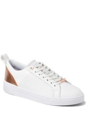 Buy Kulie Leather Cup Sole Trainers by Ted Baker London online