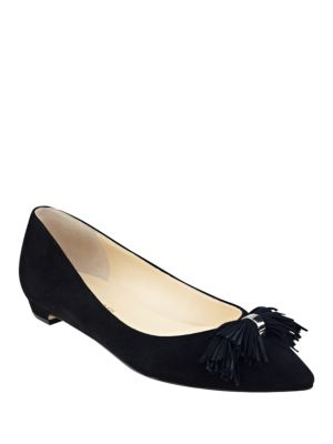 Buy Tabithe Kid Suede Fringe Flats by Ivanka Trump online