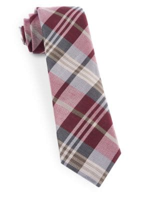 Crystal Wave Silk Blend Plaid Tie by The Tie Bar