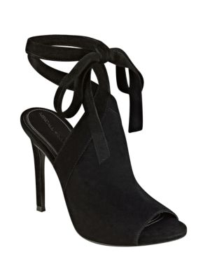 Evelyn Suede Ankle-Tie Sandals by KENDALL + KYLIE