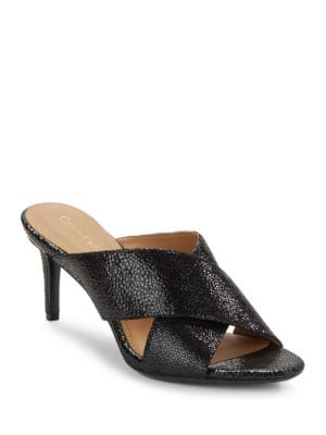 Lucie Speckle Sandals by Calvin Klein