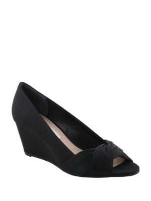 Edelia Satin Wedge Pumps by Nina