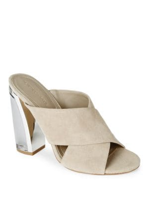 Karmen Suede Open Toe High-Heel Sandals by KENDALL + KYLIE