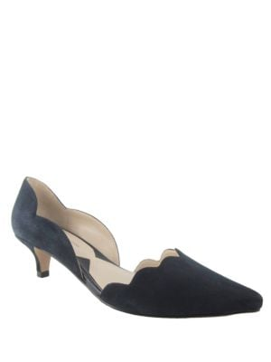 AVL Serene Kid Suede dOrsay Pumps by Adrienne Vittadini