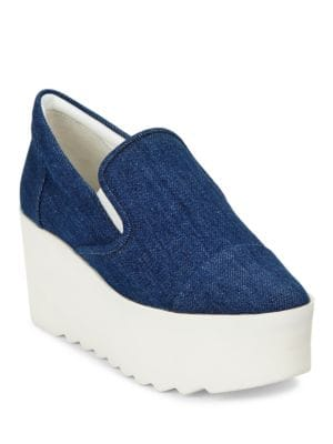 Tanya Denim Platform Slip On Sneakers by KENDALL + KYLIE