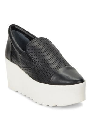 Buy Tanya Perforated Platform Slip On Sneakers by KENDALL + KYLIE online