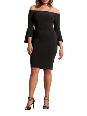 Plus Ruched Jersey Dress by Lauren Ralph Lauren