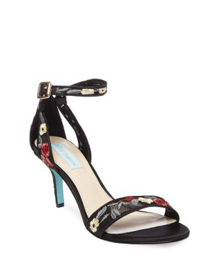 Madox Embroidered Stiletto Sandals by Betsey Johnson