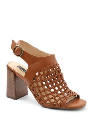 Sandria Ankle-Strap Woven Sandals by Kensie