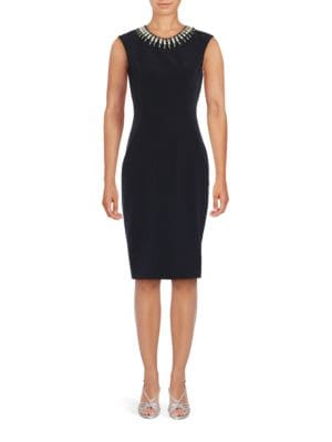 Embellished Sheath Dress by Vince Camuto