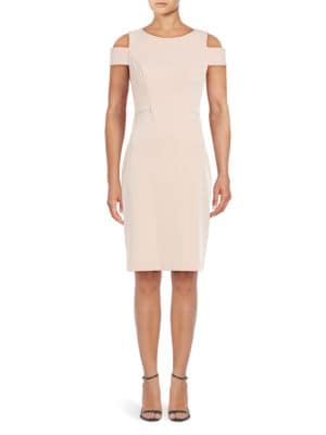 Textured Cold-Shoulder Sheath Dress by Vince Camuto
