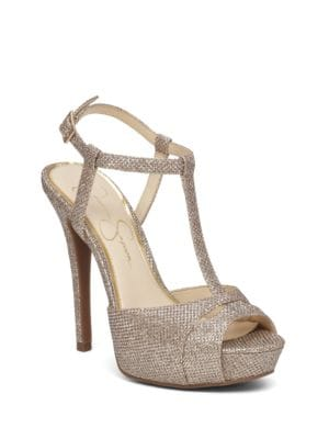Barretta T-Strap Platform Pumps by Jessica Simpson