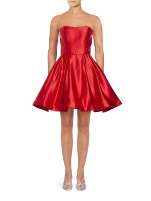 Satin Fit-and-Flare Dress by Betsy & Adam