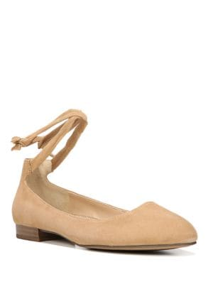 Becca Ankle-Wrapped Leather Ballet Flats by Franco Sarto
