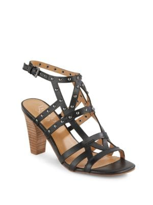 Calesta Studded Leather High-Heel Sandals by Franco Sarto