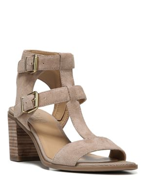 Hasina Suede T-Strap Sandals by Franco Sarto