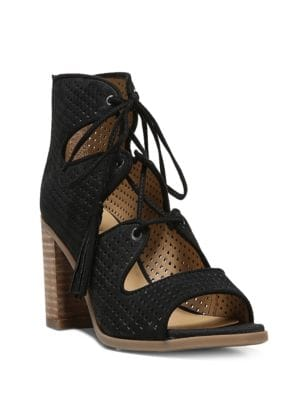 Honolulu Cutout Lace-Up Sandals by Franco Sarto
