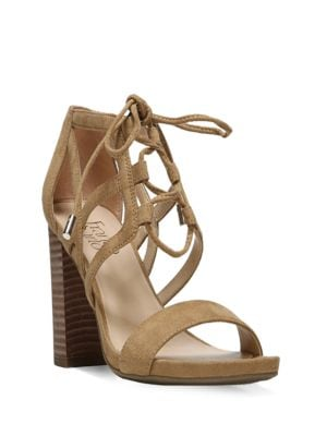 Jewel Suede Strappy Sandals by Franco Sarto