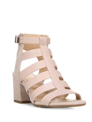 Mesa Leather Strappy Sandals by Franco Sarto
