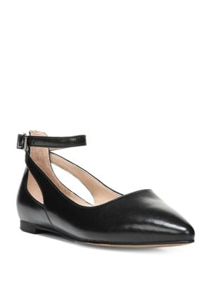 Sylvia Point Toe Leather Flats by Franco Sarto