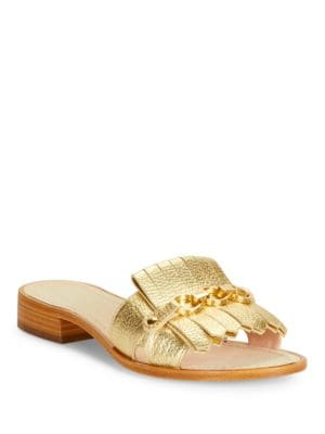 Brie Embossed Leather Sandals by Kate Spade New York