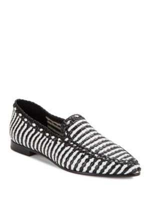 Caylee Woven Leather Loafers by Kate Spade New York