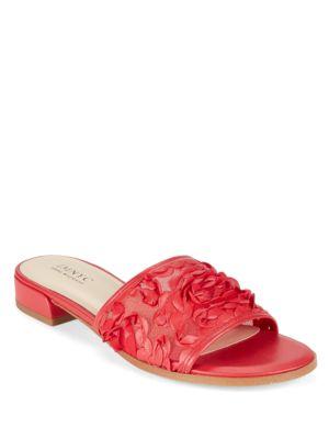 Fran Floral Voile Slide Sandals by IMNYC Isaac Mizrahi