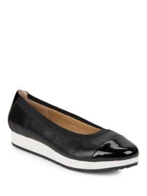 Gilsa Leather Skimmer Flats by Adrienne Vittadini