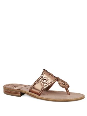 West Hampton Leather Thong Sandals by Jack Rogers