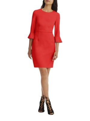 Three-Quarter Sleeve Sheath Dress by Donna Morgan