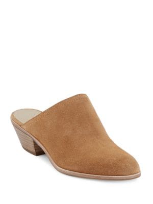 Nikki Suede Slip-On Mules by G.H. Bass