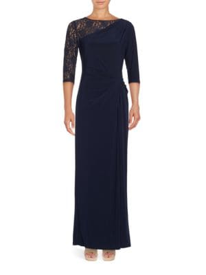 Lace-Accented Gown by Ellen Tracy