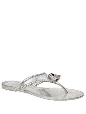 Jr Alana Sparkle Whipstitch Jelly Tassel Thong Sandals by Jack Rogers
