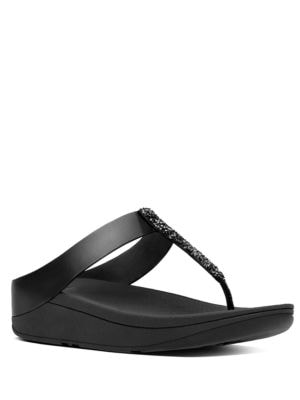 Fino Toe TM Faux Leather Thong Sandals by FitFlop