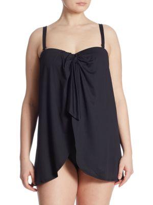 Plus One-Piece Flyaway Swimsuit by Lauren Ralph Lauren