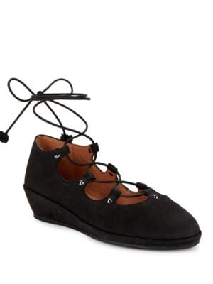 Nita Lace-Up Suede Wedges by Gentle Souls