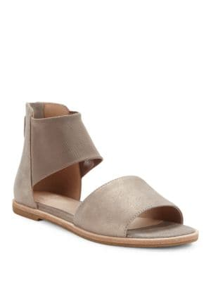 Sign Nubuck Leather Sandals by Eileen Fisher
