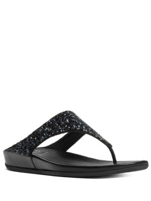 Bandaroxy TM Glittering Toe-Thong Sandals by FitFlop