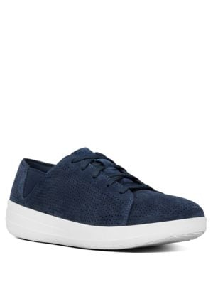 Sporty TM Perforated Suede Lace-Up Sneakers by FitFlop