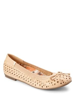Surin Leather Perforated Ballet Flats by Vionic